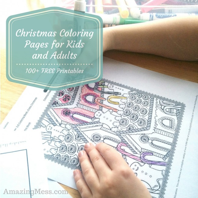 100+ Free Christmas Coloring Printables for kids and adults. Great activities for kids and a stress reliever for adults!