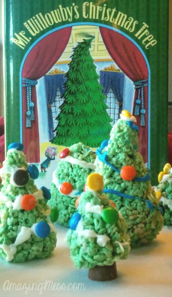 Cooking with Kids Project - Christmas Tree Rice Krispies