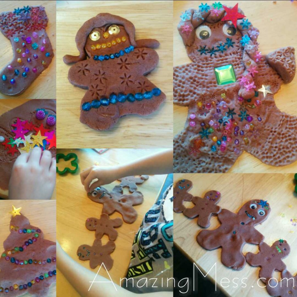 Gingerbread baby play with beads and activities
