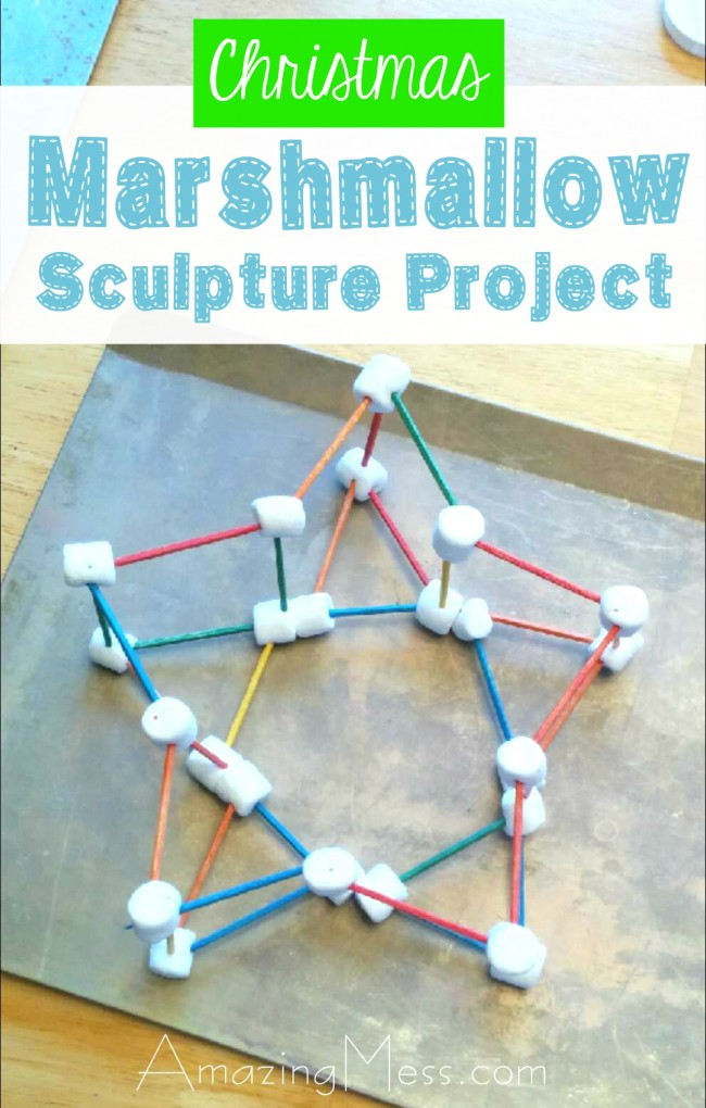 Marshmallow Sculpture Project for Christmas or Anytime