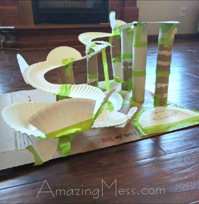 Roller coaster paper plate project