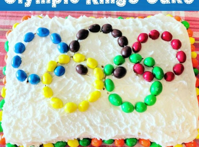 Cooking with Kids:  How to Make a Simple Olympic Rings Cake
