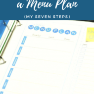 How to Make a Menu Plan (My Seven Steps)