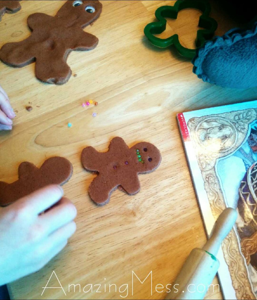 Gingerbread Men Playdough Play