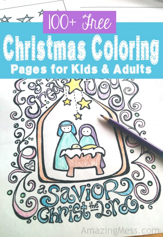 15+ Christmas Coloring Pages For Kids Free Printable