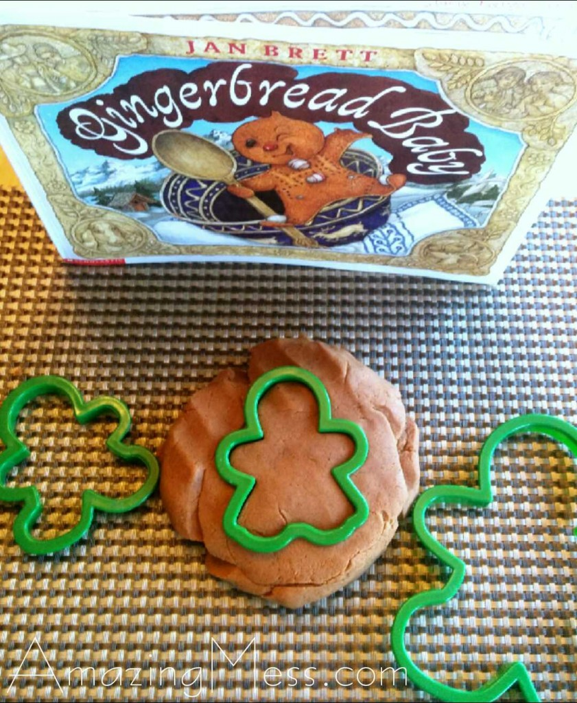 Gingerbread Playdough Play