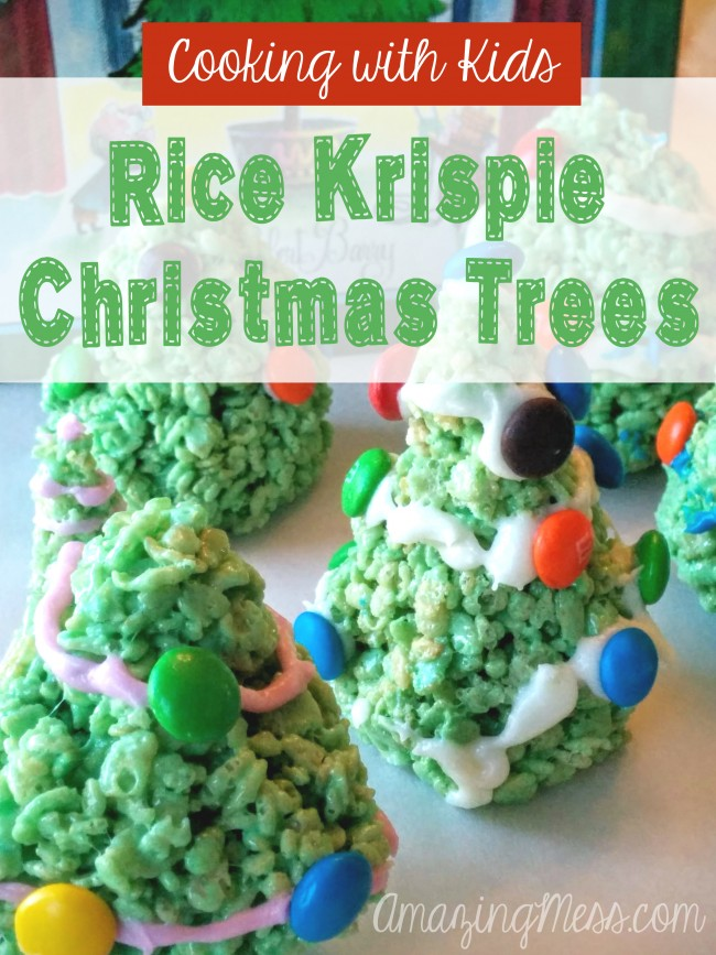 Rice Krispy Christmas Trees Cooking with Kids