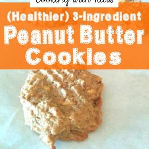 3-Ingredient Peanut Butter Cookies (Healthier Version)