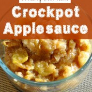 Cooking with Kids:  Crockpot Applesauce Recipe (No Added Sugar)