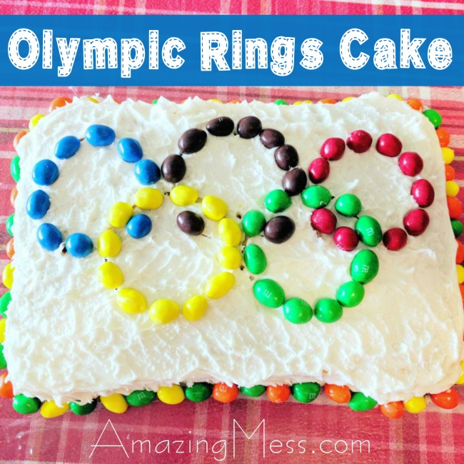 Easy Olympic Rings Cake