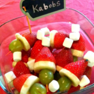 Healthy Christmas Treat:  Grinch Kabobs!!