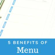 Benefits of Menu Planning