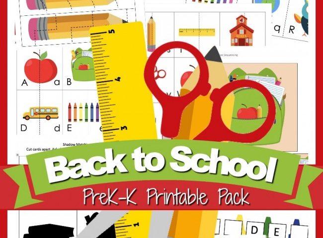 FREE Back-to-School Printable Pack (Pre-K & Kindergarten)