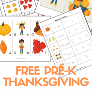 FREE Pre-K & K Thanksgiving Printable Pack